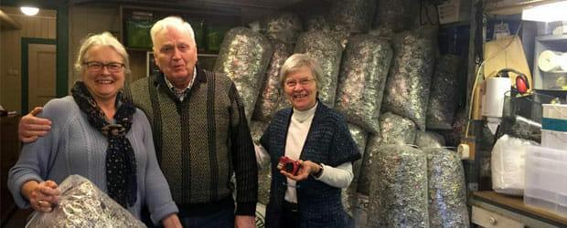 Projekt Dåseringe afhenter 1400 kg dåseringe i Norge